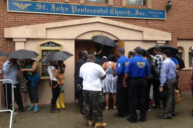 Family and Friends gathered at St. John Pentecostal Church in Harlem to pay their last respects to Islan Nettles on Wednesay Aug. 28, 2013.