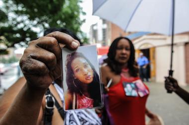 Family and friends attended the funeral of murdered transgender woman, Islan Nettles,  today in Harlem