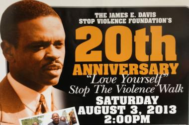 "James E. Davis' ""Love Yourself, Stop the Violence"" peace walk enters its 20th year. Davis was shot down inside the City Council chambers in 2003."