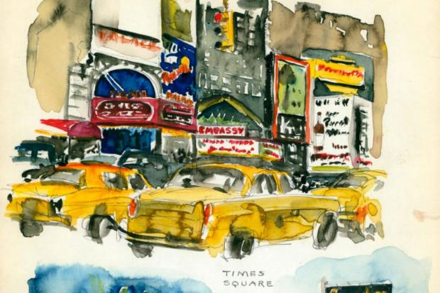 A collection of Jane Bannerman's sketchbooks and paitings by Reginald Marsh are on display at the New-York Historical Society.