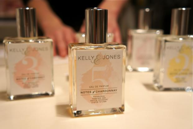 The West Village-based perfume company Kelly & Jones sells fragrances that pick up the same notes as specific wines. Wine and perfume are both sensual experiences, company founder Kelly Jones said Aug. 2, 2013.
