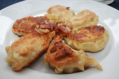 Meat and yankee bean pierogi from Krasula Pierogi Bar, one of the many treats that will be available at Saturday's Chelsea Bazaar.