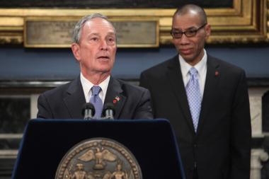 Mayor Michael Bloomberg and Schools Chancellor Dennis Walcott.
