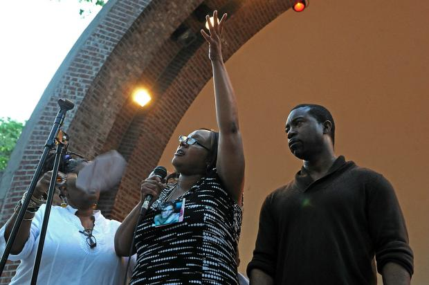 The family of slain transgender woman Islan Nettles and LGBT organizations gathered with politicians and Harlem residents to remember her on Tuesday August 27, 2013.