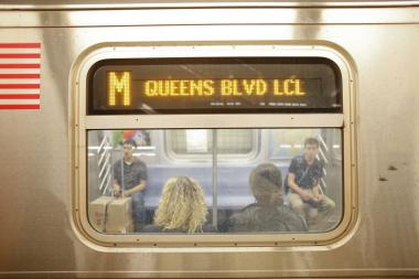 M train service was suspended between  71st Ave-Forest Hills and Essex Street Thursday evening.