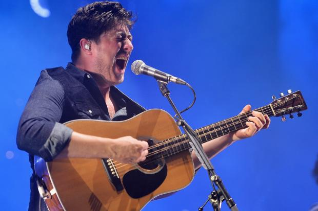 Mumford and Sons played in Forest Hills on August 28, 2013.