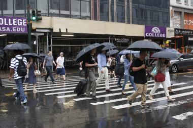 The storm will begin Friday closer to midnight and last through Saturday, according to the NWS