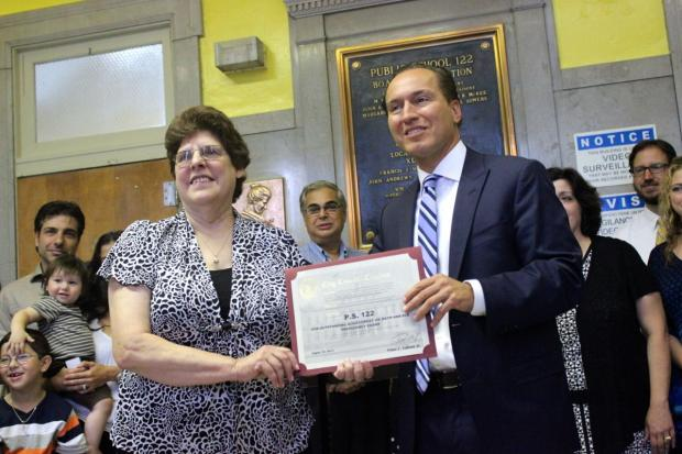 Kids at the popular Queens school scored well above the city and state averages on the exams.