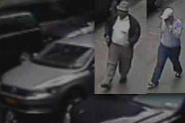 The pair fled in a silver Volkswagon after stealing $100 and jewelry from a woman in Astoria, cops said.