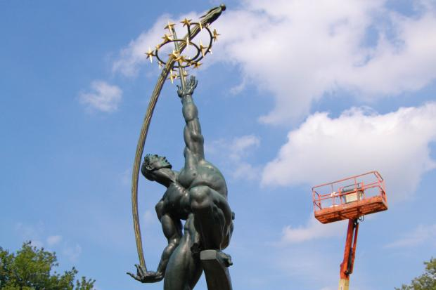 A nearly 50-year-old statue is being restored in Flushing Meadows-Corona Park.