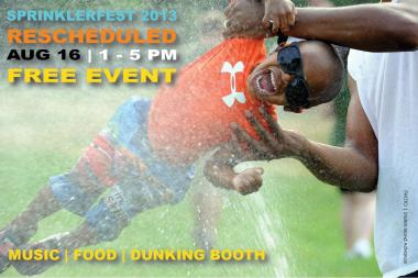 Snug Harbor's third annual free Sprinklerfest for kids will be held on Friday, August 16, 2013.
