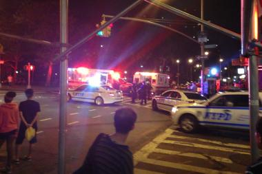 The 17-year-old boy was stabbed near East Broadway and Rutgers Street, the FDNY, police and witnesses said.