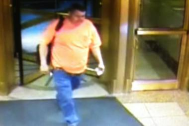 Police released this photo of a man suspected of etching a swastika onto an elevator button at the Google offices on August 8, 2013.