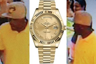 A man stole a Rolex from Columbus Circle's Tourneau watch shop, cops said.