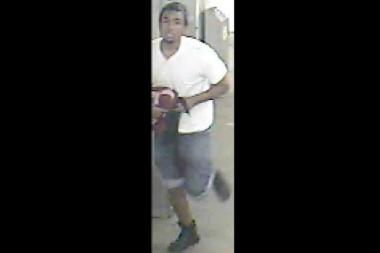 The NYPD released this photo of a man suspected in an adult video store robbery in Long Island City on Aug. 5.