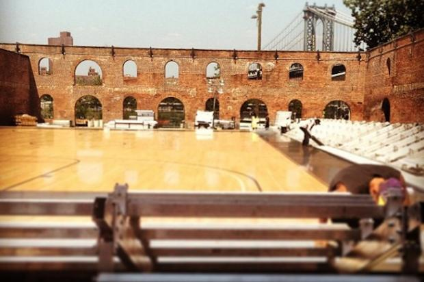 Dumbo Hosts Elite 24 Bball Game On Custom Built Court In