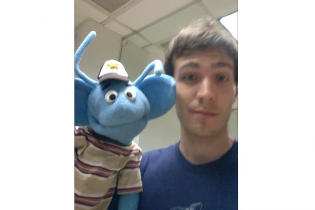 Children's performer Tim Kubart is offering a $300 reward for his lost puppet called Nestor.