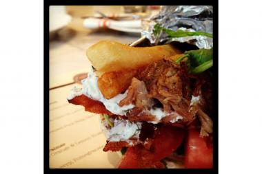 Amali Restaurant and Bar, 115 E. 60th St., is giving away free bacon with the purchase of a gyro on Friday, Aug. 30 2013.