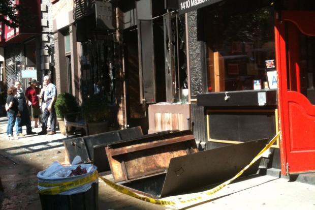 A fire broke out in the first floor of a Madison Ave. eatery Tre Otto Tuesday morning, FDNY said.