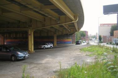 Myrtle Avenue Brooklyn Partnership hopes to turn a neglected area under the BQE into a public plaza.