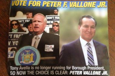 The fliers highlight the similarities between the former opponents, Vallone said.