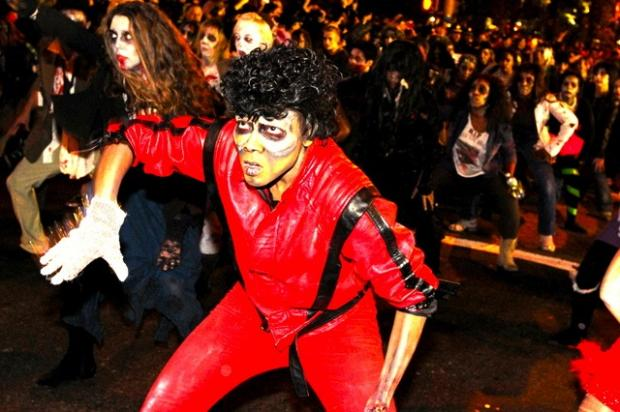 The streets of Greenwich Village filled with spooky costumes during the 2011 Village Halloween Parade. The 2012 parade was cancelled in the wake of Hurricane Sandy.