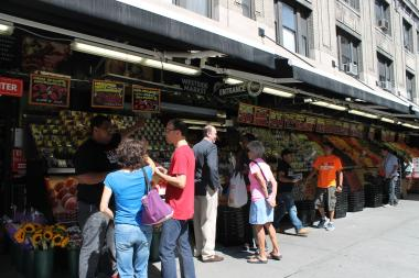 A worker at the Upper West Side grocery store has a case of hep A, putting customers at risk.