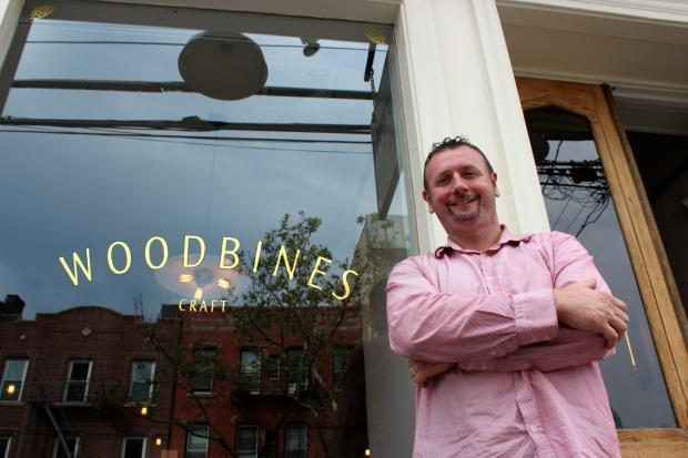 Pat Burke opened Woodbines in Hunters Point last week, and says he wants to bar to be a spot for locals.