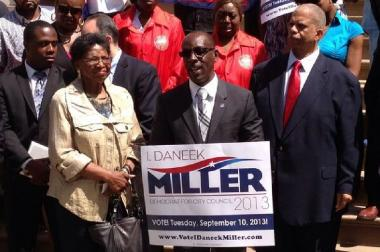 I. Daneek Miller wins Democratic primary for the Council District 27 seat.