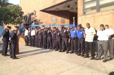 The 34th Precinct marked the 9/11 anniversary with a solemn ceremony Wednesday morning.