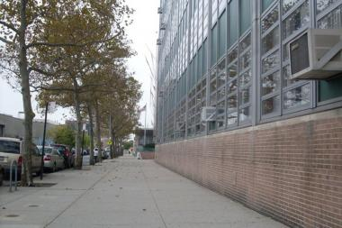 A student was taken into custody after bringing a BB gun to Aviation High School in Long Island City on Wednesday.