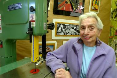 Bernette Rudolph, 84, has laid out the welcome mat at her Third Street studio since 1985.