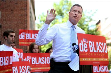Public Advocate Bill de Blasio in August 2013, several weeks before the Sept. 10 Democratic primary.