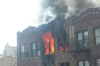 A fire erupted inside 4315 18th Ave. Wednesday morning, the FDNY said.