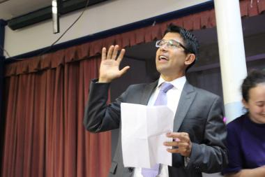 Carlos Menchaca celebrated victory for District 38's city council seat after beating out incumbent Sara Gonzalez.