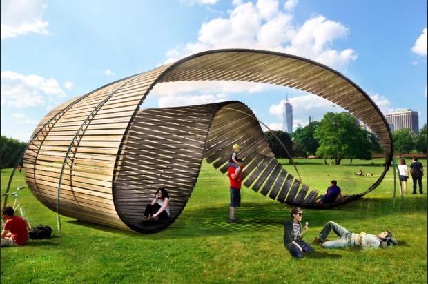 "Five finalists have been chosen in the 2013-2014 ""City of Dreams"" pavilion design competition on Governors Island."
