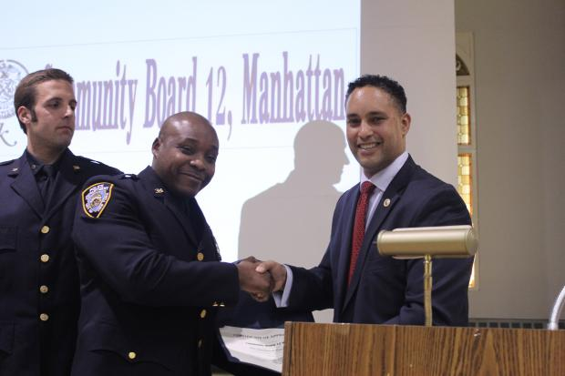Cops from the 34th precinct were honored for rescuing a jet skier and confiscating 20 pounds of heroin.
