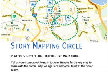 The Story Mapping Circle runs from 12 p.m. to 2 p.m. on Saturday, September 14 at the 78th Street playstreet.