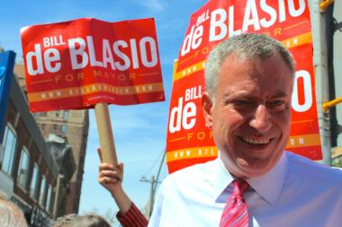 Mayor Bill de Blasio raised $663,049 in the past two-months, $118,233 more than Paul Massey.