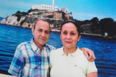 Ever Orozco, left, and his wife loved to travel and had several trips planned before he was killed Monday September 16, 2013.