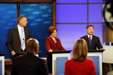 Democratic mayoral candidates Bill de Blasio, Christine Quinn, and John Liu, squared off in their final debate before the primary.