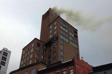 A blaze broke out at the Bowery Hotel on Tuesday morning, officials said.
