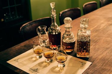 Flatiron Room's whiskey tasting includes 3/4 of an ounce of six different whiskey types.