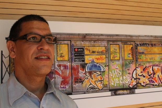 The Upper West Side helped launch grafitti as a big part of the hip-hop movement, said artist George Morillo.