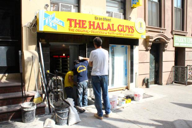 The Halal Guys' first storefront on East 14th Street was delayed by gas line issues.