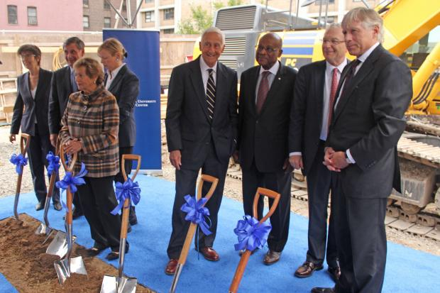 Officials marked the start of construction on the 14-story Medical and Graduate Education Center.
