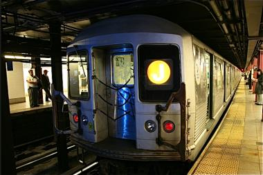 A straphanger was struck and killed by the J train Monday afternoon, transit officials say.