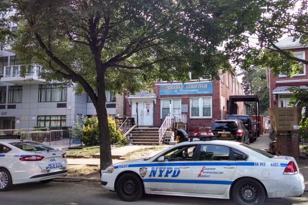 A tall wooden menorah outside a Kensington synagogue went up in flames on the eve of Rosh Hashana, and cops are investigating it as a possible hate crime, an  NYPD  spokesman said.