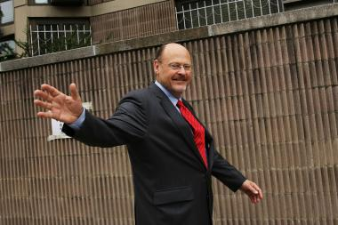 Mayoral candidate Joe Lhota spoke to reporters after voting in the Republican primary Sept. 10, 2013.