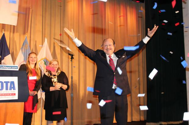 Joe Lhota, a former aide to Mayor Rudy Giuliani and one-time head of the Metropolitan Transportation Authority, bested his opponents — billionaire businessman  John Catsimatidis  and Doe Fund founder  George McDonald  — and secured 52.4 percent of the vote, with 94 percent of precincts reporting to win the Republican nomination for mayor of New York City.